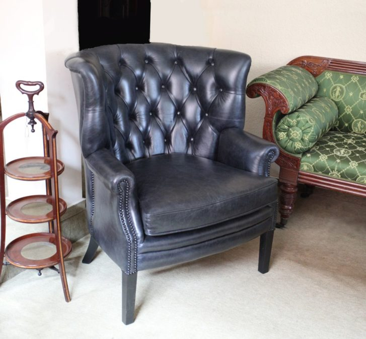Oliver Goldsmith Chair Crackle Black  Fleming and Howland