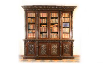 Viktorianisches Bookcase aus Eiche