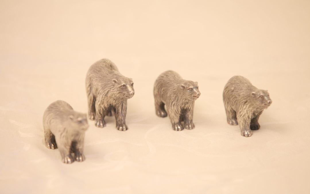 4 Silber Bären