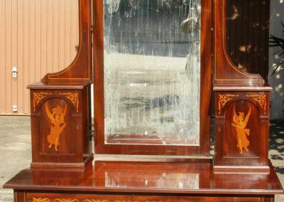 Spiegelkommode Mahagoni mit Intarsien um 1900