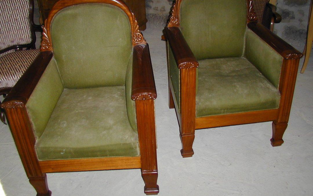 Art Deco Sessel um 1920 aus Eiche