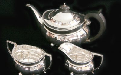 Englisches Silber Teeservice, Birmingham 1917