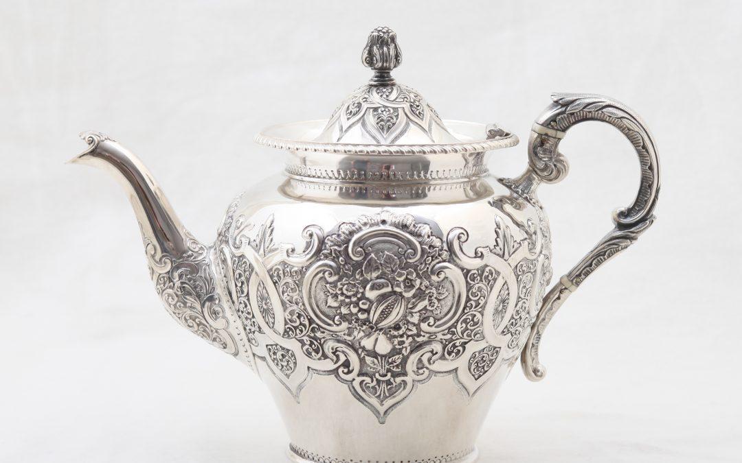Teekanne Silber Glasgow um 1844